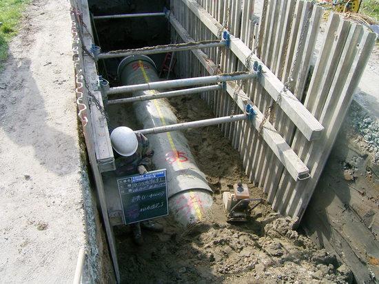 FRPM管水路の埋設